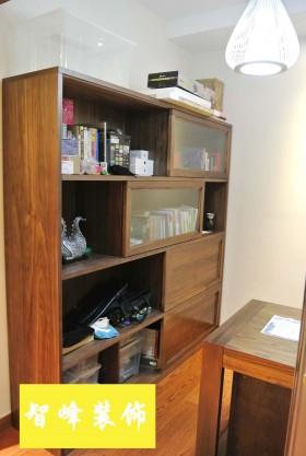 现代风格实木书柜图片