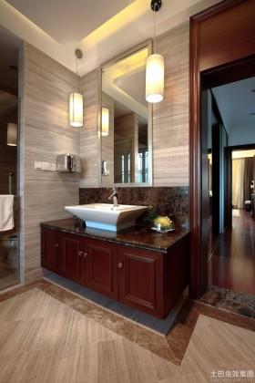 中式卫生间实木浴柜图片大全
