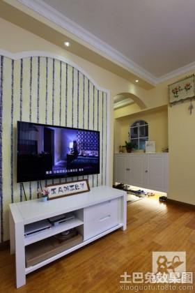 地中海风格装修电视背景墙效果图大全
