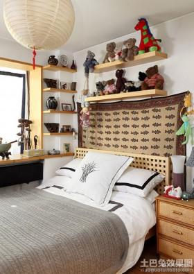 zakka风格64平米小户型卧室效果图