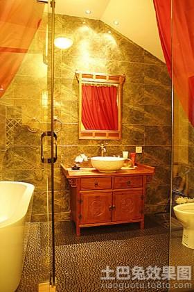 卫生间中式浴柜图片大全