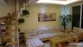 田园风格小复式客厅效果图