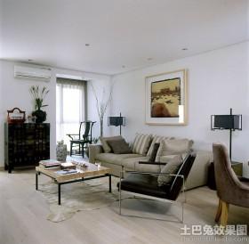 中式二居客厅家具摆放效果图片