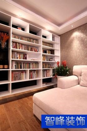 现代风格客厅书架效果图