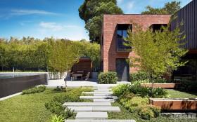 现代别墅景观设计效果图片