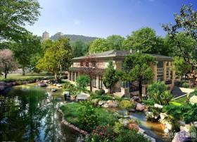 乡村别墅景观设计效果图欣赏
