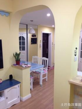 清新地中海风格小两居室内设计图片