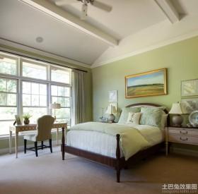 绿色家装卧室布置图片