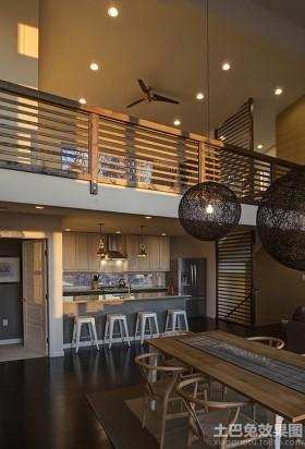 现代简装loft公寓效果图