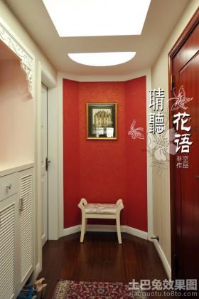玄关装饰画进门玄关背景墙装饰效果图大全