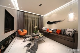 创意两室一厅客厅效果图片