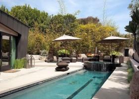 简约风格别墅庭院景观设计效果图