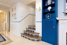 地中海风格楼梯过道装修效果图