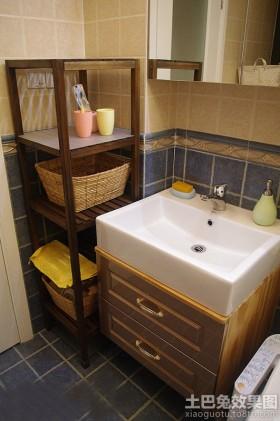 简中式浴柜图片