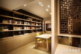 餐厅实木书柜效果图