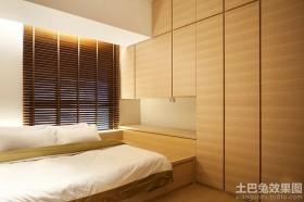 2014日式风格卧室榻榻米床装修效果图
