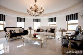 现代欧式120平米三室两厅装修效果图