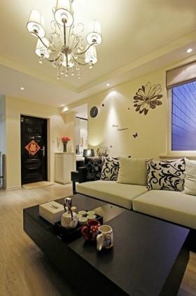现代简约风格小户型婚房客厅装修效果图