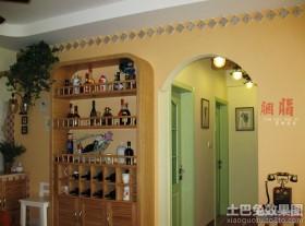 家装实木酒柜设计图