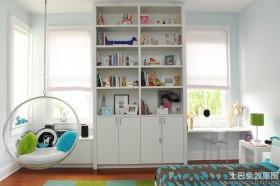 简约卧室书架设计效果图