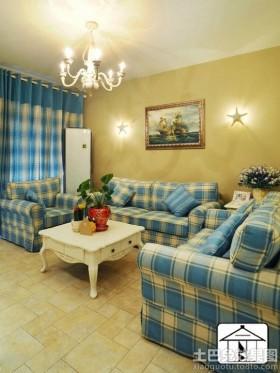 地中海风格小客厅装修效果图片