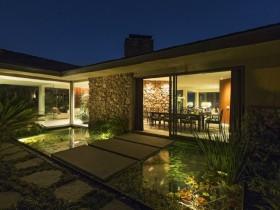 现代简约风格别墅花园效果图