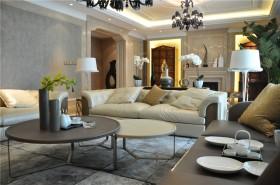 欧式新古典风格客厅双茶几图片