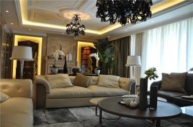 欧式新古典风格客厅吊顶装修效果图