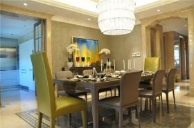 欧式新古典风格餐厅餐桌效果图