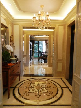 欧式风格别墅玄关拼花地板装修效果图