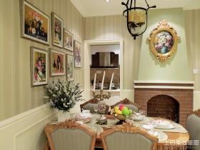 田园风格实木餐桌图片