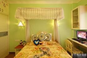绿色卧室墙面颜色图片大全