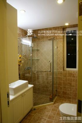 港式田园风格二居淋浴房图片