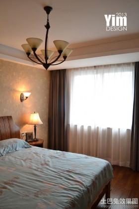 混搭三室两厅卧室窗帘效果图