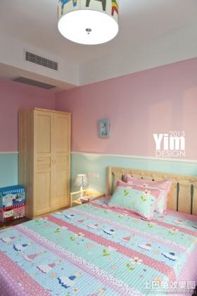 美式二居儿童房组合家具图片