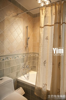 家居浴室浴帘装修图片