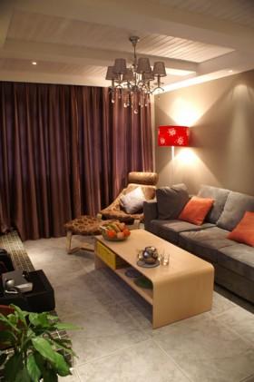 混搭风格40平米小户型客厅茶几图片