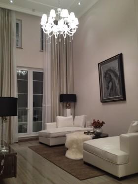 欧式风格挑高客厅灯具设计效果图