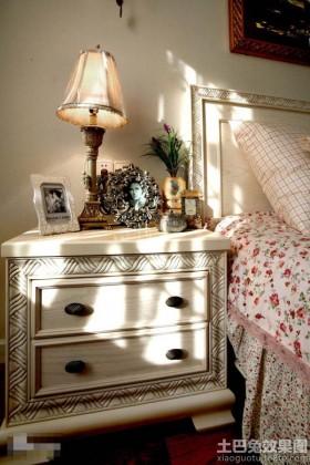 卧室床头欧式装饰柜效果图