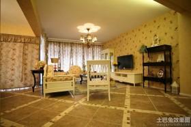田园风格客厅瓷砖图片