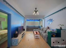 地中海70平米二居客厅灯具图片