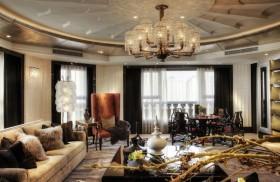 欧式别墅客厅灯具设计效果图大全