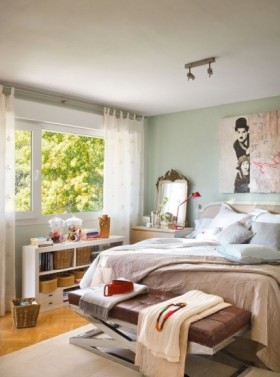 北欧风格二居卧室布置图片
