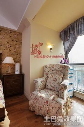 美式田园风格二居室家用沙发图片
