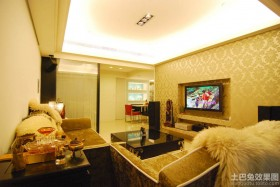 混搭二居客厅电视墙效果图