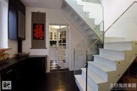 现代简约复式楼楼梯间效果图