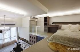 loft小户型卧室榻榻米床效果图