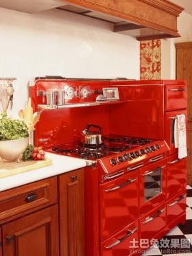 外国厨房灶台图片