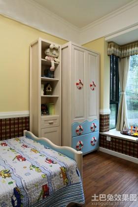 地中海风格儿童房储物柜图片