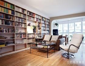 家庭客厅兼书房装修效果图